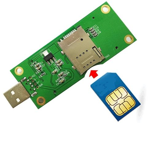 mini pci-e do USB Adapter na kartę SIM do WWAN/LTE